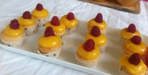 My lemon curd and raspberry mini cupcakes
