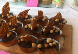 My choc-hazelnut cupcakes