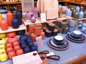 Lovely pottery at Heath Ceramics
