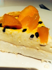 My mango passionfruit pavlova ( a cheeky slice the day after...)