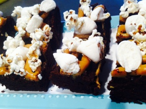My (climate busting?)baking: caramel popcorn and marshmallow brownies