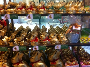 So many bunnies at Lindt! I think they were breeding...